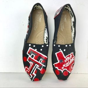 Toms Womens Texas Tech Red Raiders Flats size 8